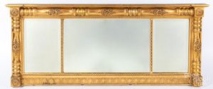 Sheraton giltwood overmantle mirror, ca. 1830