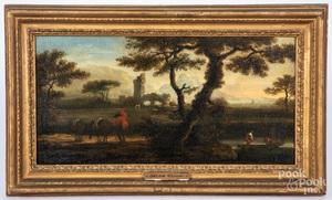 Manner of Jacob Cuyp, oil on canvas landscape