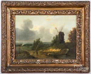 Attributed to Patrick Nasmyth oil landscape