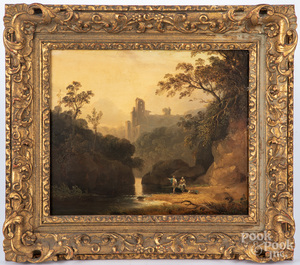 Pair of Continental oil on board landscapes