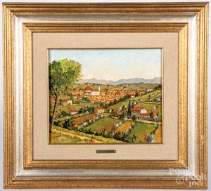 Renzo Paoletti oil on board landscape