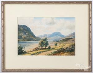Watercolor of Loch Lubnaig
