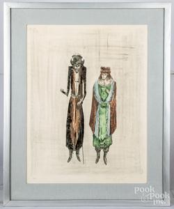 Leonora Carrington, lithograph