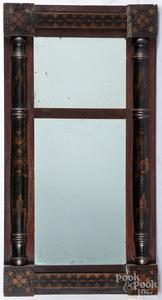 Painted Sheraton mirror, 19th c.