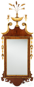 Federal mahogany and giltwood mirror, ca. 1800