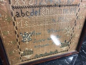 Vermont silk on linen sampler