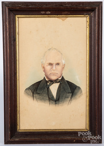 Two mixed media portraits, late 19th c.