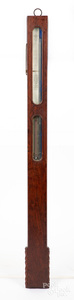 Timby's rosewood stick barometer, 19th c.