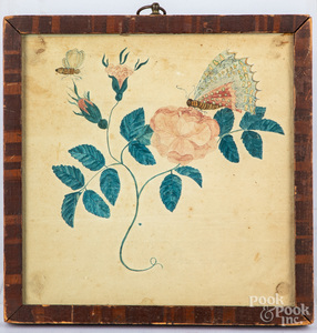 Primitive watercolor, 19th c.