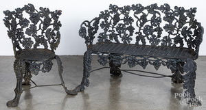 Victorian cast iron patio suite