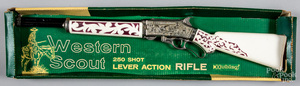 Hubley Western Scout lever action cap gun rifle
