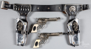 Paladin double set of cap guns in holster