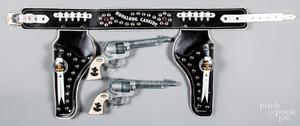 Contemporary Hopalong Cassidy set of cap guns