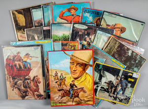Collection of twenty-three Western themed puzzles