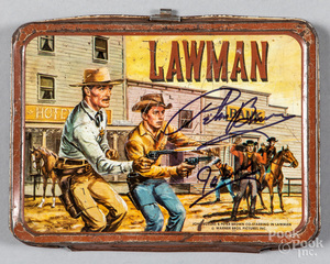 John Russell, Peter Brown Lawman tin lunch box li