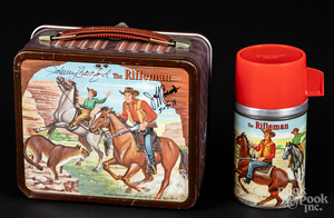 Signed Johnny Crawford, Jeff Connors lunch box