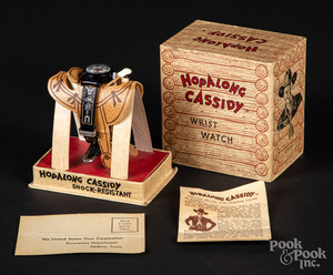 Hopalong Cassidy wristwatch, in original box