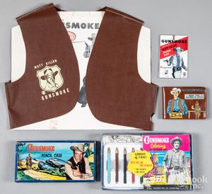 Group of Matt Dillon Gunsmoke collectibles