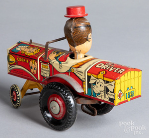 Marx tin lithograph Dagwood the Driver wind-up ca