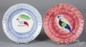 Two spatter plates