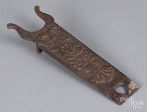 Cast iron bootjack, 19th c.