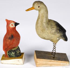 Two pipsqueak toys, 19th c.