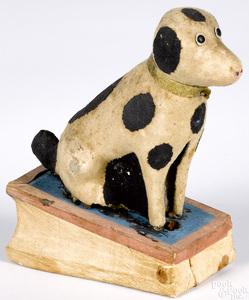 Dalmatian pipsqueak toy, 19th c.