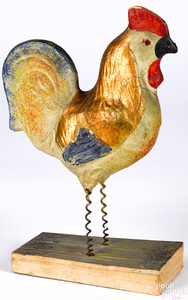 Large rooster pipsqueak toy, 19th c.