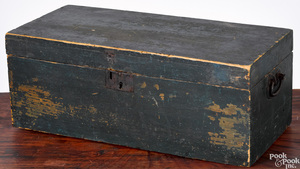 New England painted lock box, 19th c.