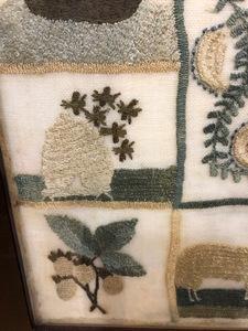 Silk on gauze sampler dated 1819