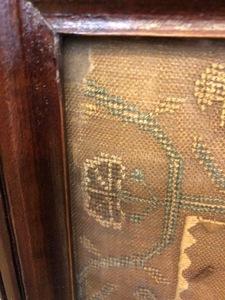 Silk on linen sampler, dated 1806