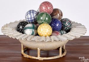 Collection of porcelain carpet balls
