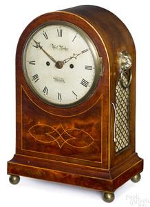 Mahogany bracket clock, early 19th c.