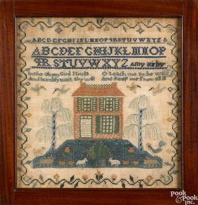 New Jersey silk on linen house sampler