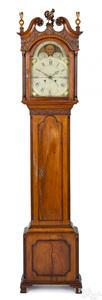 Pennsylvania Chippendale mahogany tall case clock