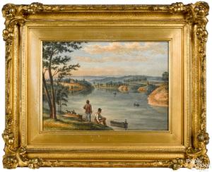 Augustus Kollner watercolor landscape