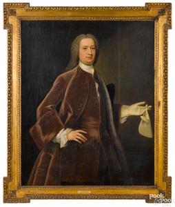 Oil on canvas portrait of Sir Francis Bernard