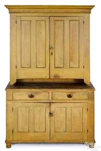 Pennsylvania painted two-part Dutch cupboard
