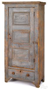 Painted pine wardrobe, 19th c.