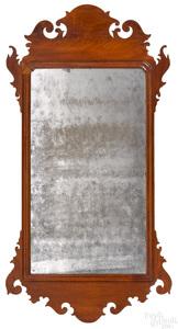 Philadelphia Chippendale mahogany looking glass