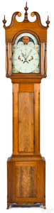 Pennsylvania Federal walnut tall case clock