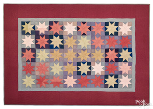 Amish star patchwork quilt, early 20th c.