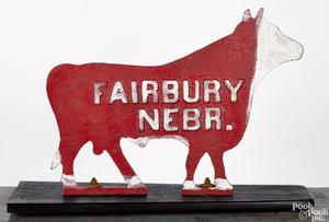 Fairbury Nebraska cast iron bull windmill weight