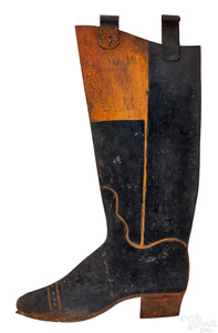 Painted cast iron boot trade sign, late 19th c.