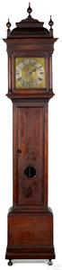 William and Mary walnut tall case clock