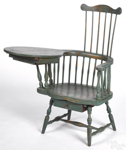 Connecticut writing arm Windsor chair