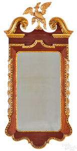 Chippendale mahogany and giltwood mirror