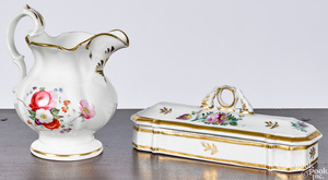 Tucker porcelain cream pitcher and dresser box