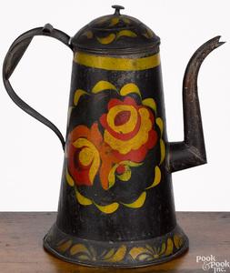 Toleware coffee pot, 19th c.