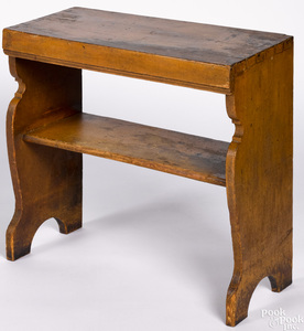 Painted pine stand, 19th c.